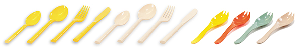 FLATWARE SUPERSPORK ALMOND YELLOW GROUPS
